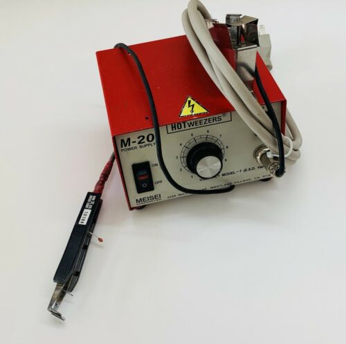 MEISEI 7C HOTWEEZER Wire Stripper With M-20 Power Unit Fully Tested