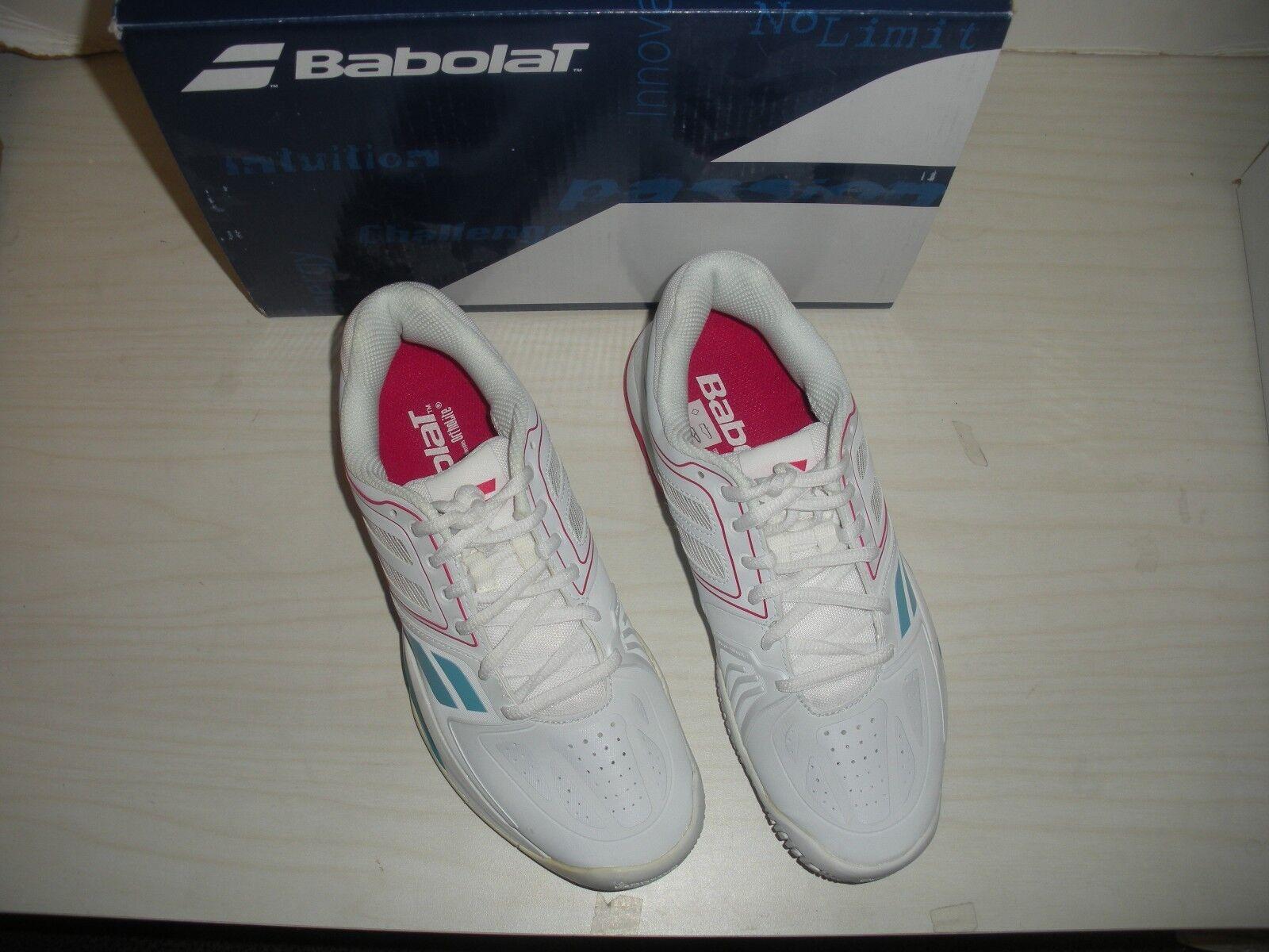 BABOLAT Damenschuhe PROPULSE TEAM - BPM AC TENNIS Schuhe - TEAM SNEAKERS -31S1501-Weiß/ PINK 0cfde1