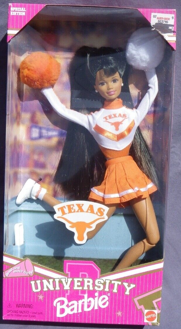 Barbie AA UNIVERSITY TEXAS cheerleader 1996 Mattel  20126 sport metier bambola NRFB  vendita all'ingrosso