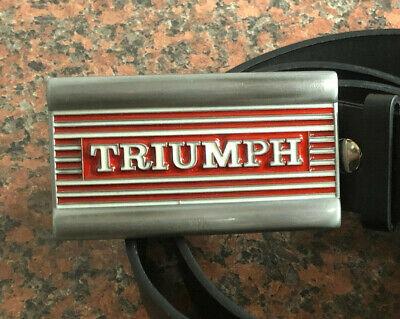 FREE Belt tank design UK biker motorbike NEW TRIUMPH MOTORCYCLE logo BUCKLE