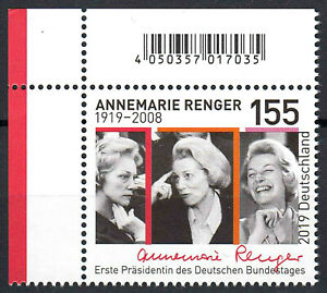 3499-postfrisch-Ecke-Eckrand-links-oben-BRD-Bund-Deutschland-Briefmarke-2019