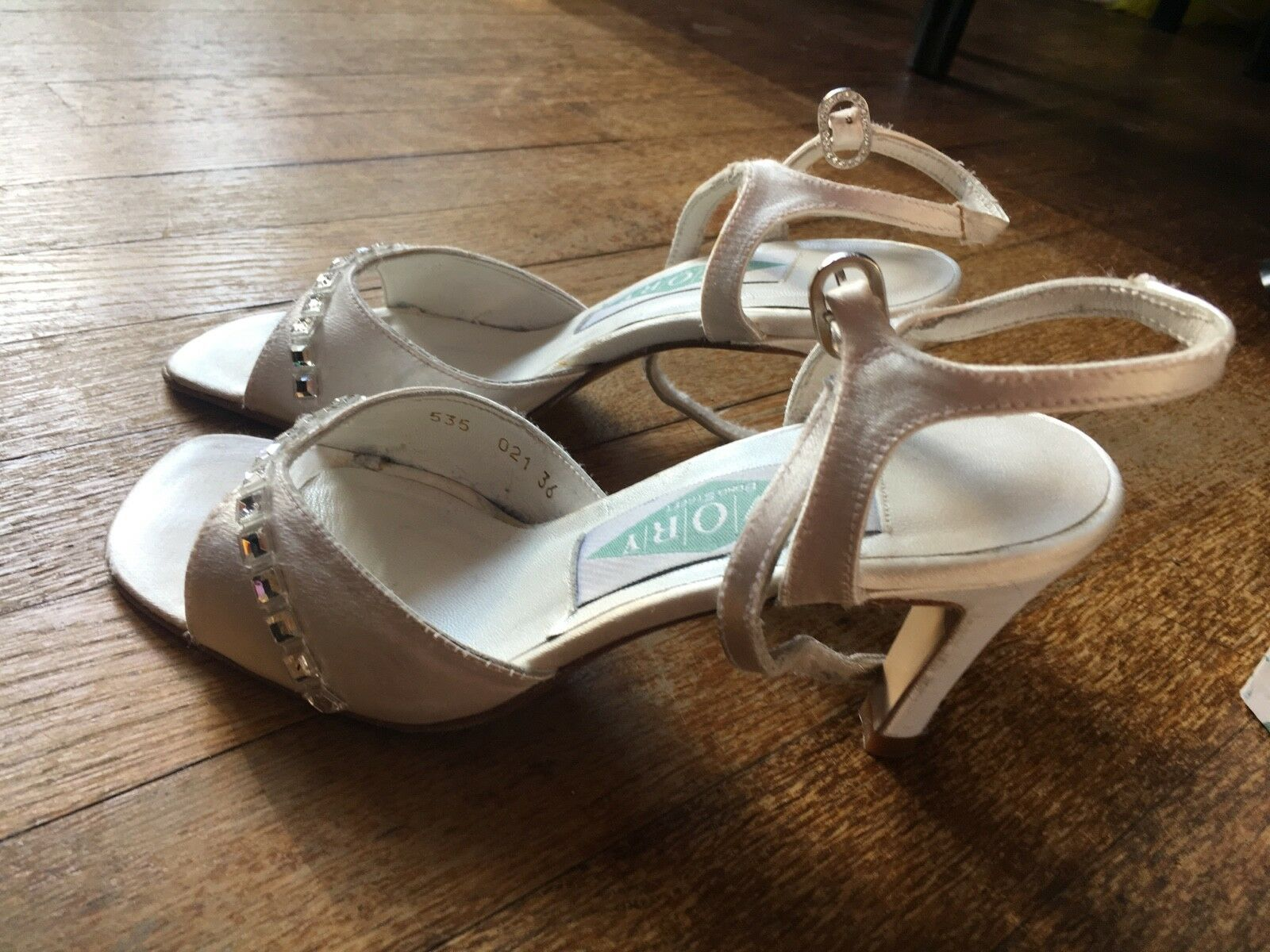 damen LADIES WEDDING BRIDAL MID HIGH HEEL STRAPPY STRAPPY STRAPPY SANDALS Größe EU 36 UK 3 4d9959
