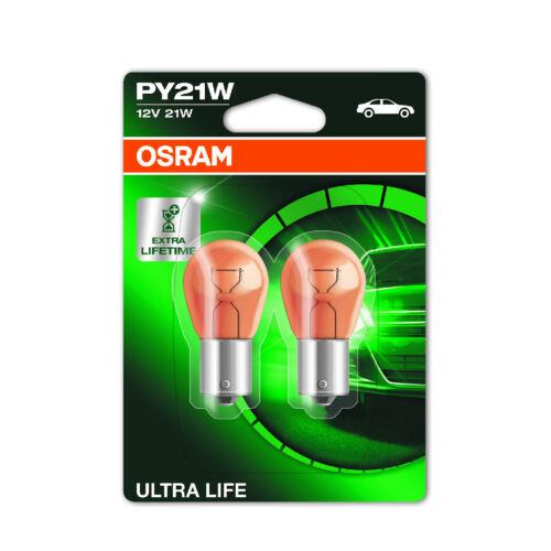 2x Peugeot 207 Genuine Osram Ultra Life Rear Indicator Light Bulbs Pair
