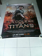 AFFICHE WRATH OF THE TITANS Rare Vinyl Movie Poster Original 2012