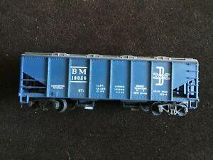 MANTUA-Boxcar-BM-Rail-Boston-amp-Maine-10056-Blue-Vintage-Box-Car-HO-Scale