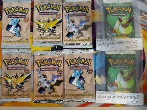 1-10-Fossil-and-Jungle-vintage-packs-Possible-1st-Edit-Holo-booster-pack
