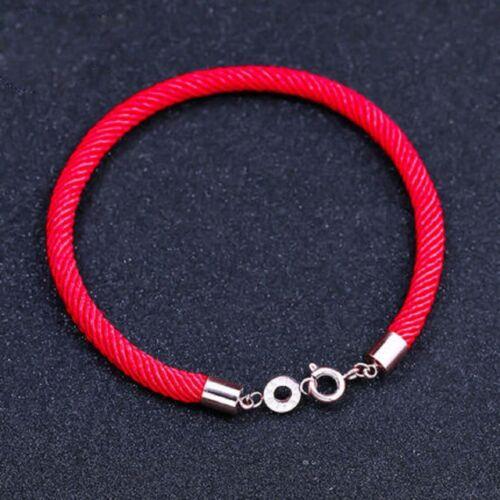 Kabbala Seilkette mit Runde Liebe-Knopf Unisex Roten Faden Armband 17 cm Präsent
