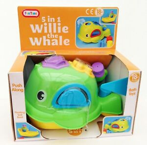 Willie-the-WHALE-Squirting-Bath-Shape-Sorter-Baby-amp-Toddler-Children-039-s-Toy-NEW
