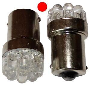 2x-Ampoules-24V-P21W-R10W-R5W-9LED-rouge-pour-camion-semi-remorque-portail