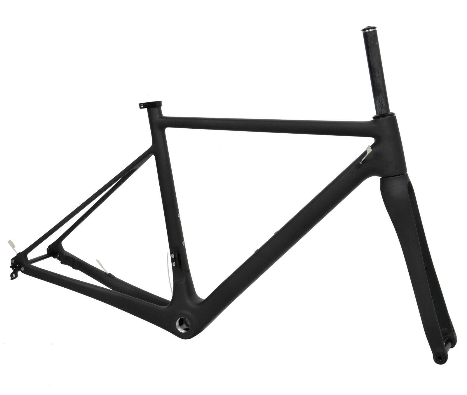 50cm Carbon Frame Disc Brake Road Bike Frameset fork headset axle 700C BSA 28C