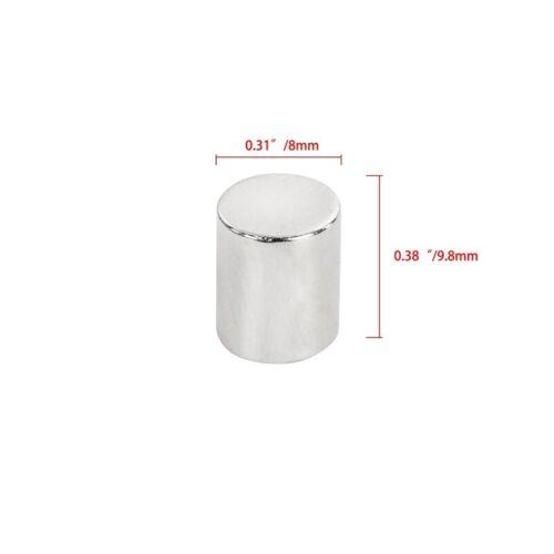 50 100 10mmx8mm Neodymium Disc Strong Rare Earth N50 Small Mini Fridge Magnets