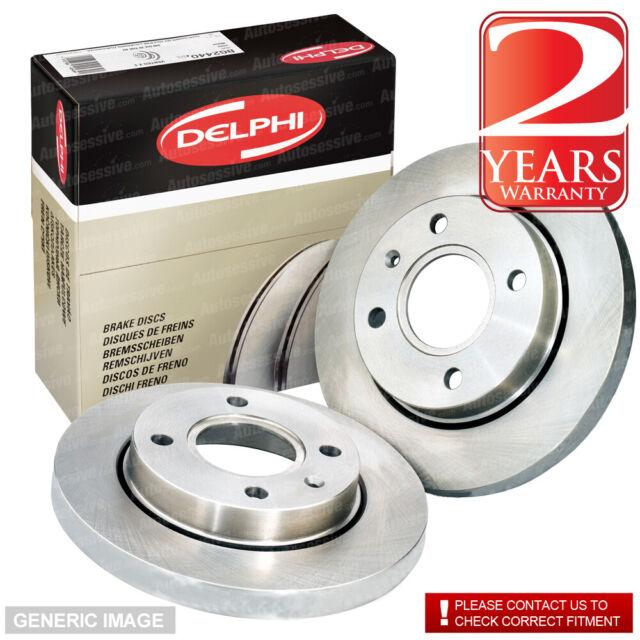 Rear Solid Brake Discs Skoda Octavia 1.8 TSI Estate 2007-09 160HP 255mm