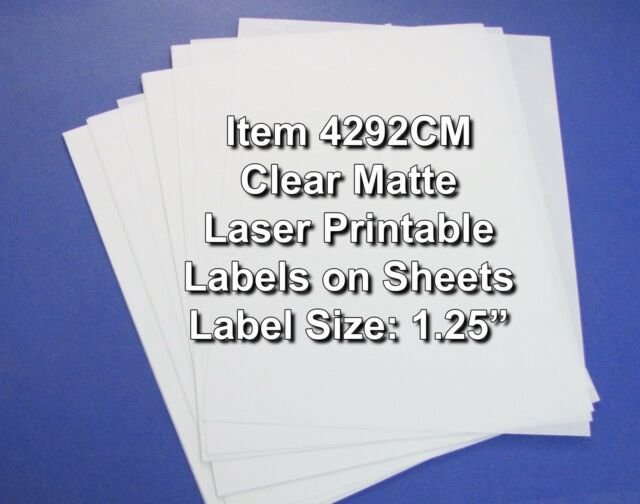 photograph relating to Printable Labels Sheets known as Obvious Matte Printable Sticker Labels 50 Sheets 1.25 Inch Spherical 4292CM