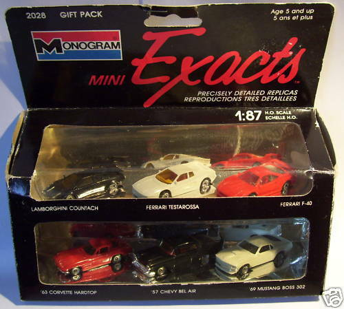 6 ACCURATE MONOGRAM HO 1 87 LAMBORGHINI MUSTANG CORVETTE CHEVY BEL AIR FERRARI