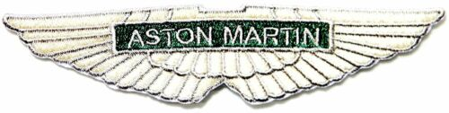 """ASTON MARTIN Sport Racing 4.5/"""" x 1/"""" Logo Sew Ironed On Embroidery Applique Patch"""