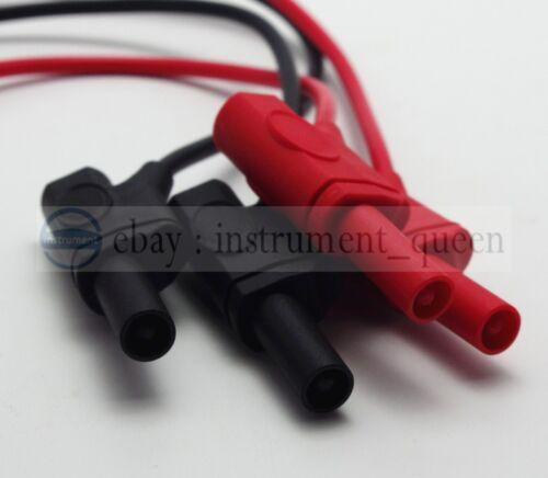1 m PVC Test conduit avec empilable Enveloppé Plaqué Or Des Fiches Banane rouge + noir