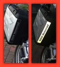 REFLECTIVE BMW MOTORRAD VARIO STICKERS ADESIVI NERO BLACK The1200stickerS