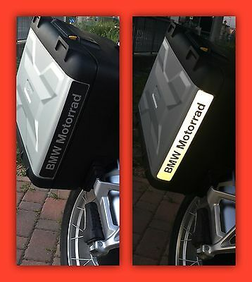RIFRANGENTI REFLECTIVE BMW MOTORRAD STICKERS ADESIVI BLU BLUE The1200stickerS