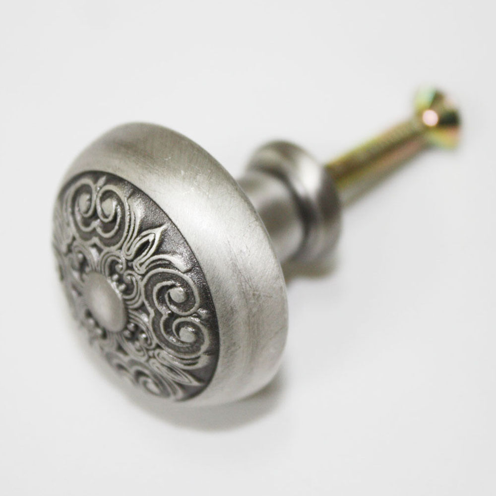 15 pcs Antique Pewter 30mm Knobs Furniture Cabinet Drawer Pull Hardware KS-0488