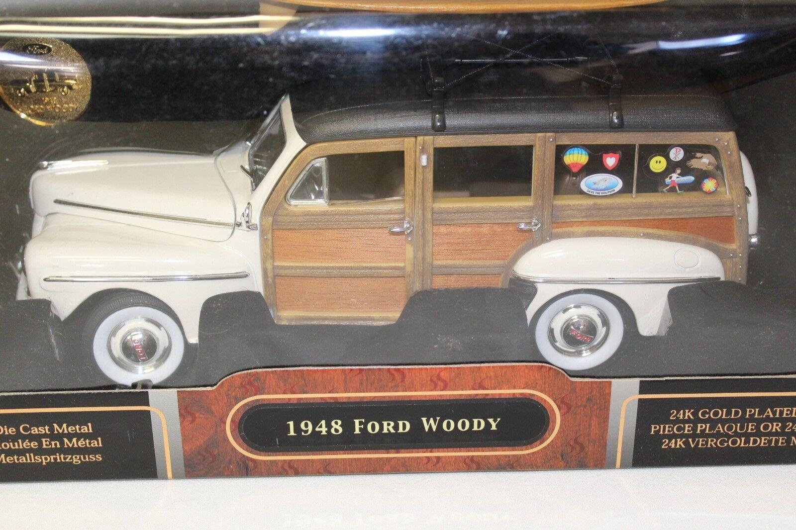 precioso Yat Ming 1 1 1 18 Yatming 1948 Ford Woody Signature Series Diecast Coche Con Moneda Nuevo  estar en gran demanda