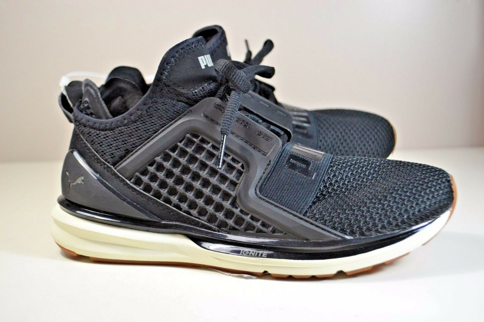 NWT WOMEN'S PUMA BLACK IGNITE ATHLETIC SNEAKERS Schuhe SZ 7