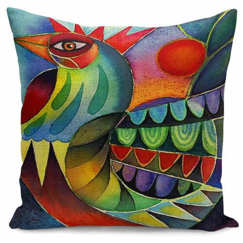 """Pillow Linen Case Decor Cock Waist 18/"""" Home Cushion Sofa Cotton New Print Cover"""