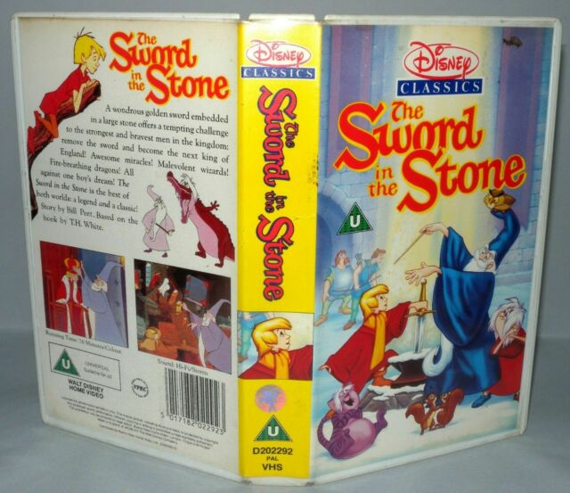 The Sword in the Stone, Disney, Children's Vhs Tape & Case. Collectable VHS
