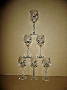 6 VERRES a VIN blanc  12cl modèle FLEURY ÉPI cristal d'arques France ; lot série