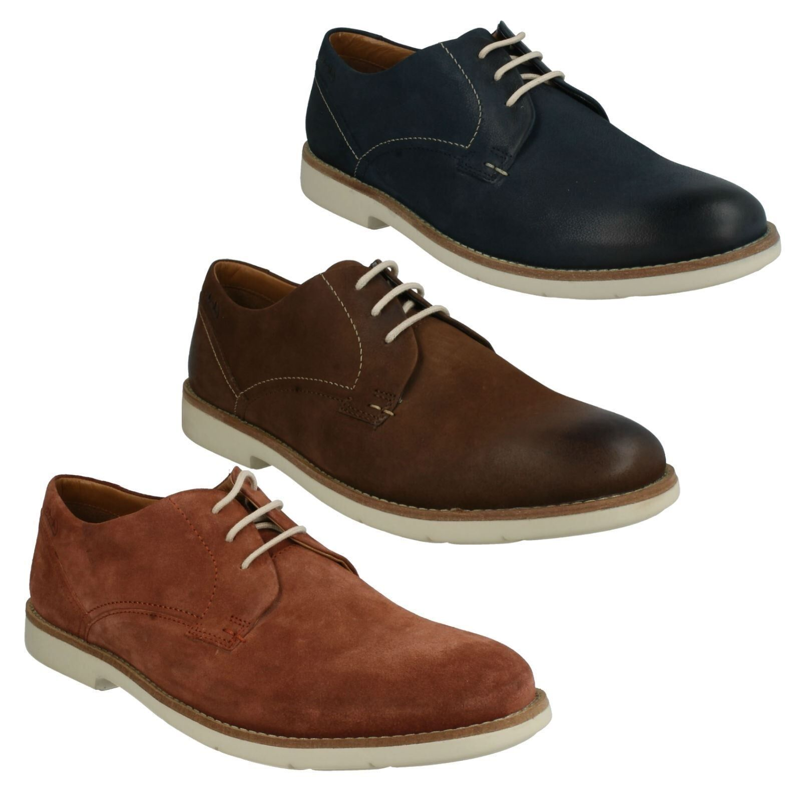 SALE RASPIN PLAN  Herren CLARKS SUEDE NUBUCK CASUAL LACE LACE CASUAL UP LIGHTWEIGHT Schuhe 679be6