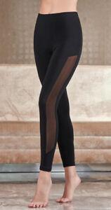 Freizeit Sport Leggings Casual Trendy Leggins Damen Stylish Mash Black Modern