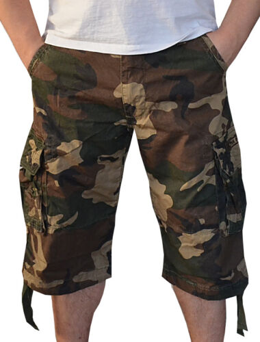 Alpha Industries Jet Short kurze Hose Shorts woodland camo olive 31 32 34 36 38