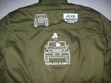 NEU Jeep WRANGLER topless&dirty Fan-Jacke olivgrün jacket veste jas giacca jakka