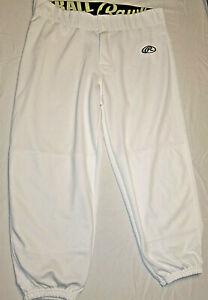 Rawlings-Womens-Fastpitch-Softball-Pants-White-Small-Free-Shipping