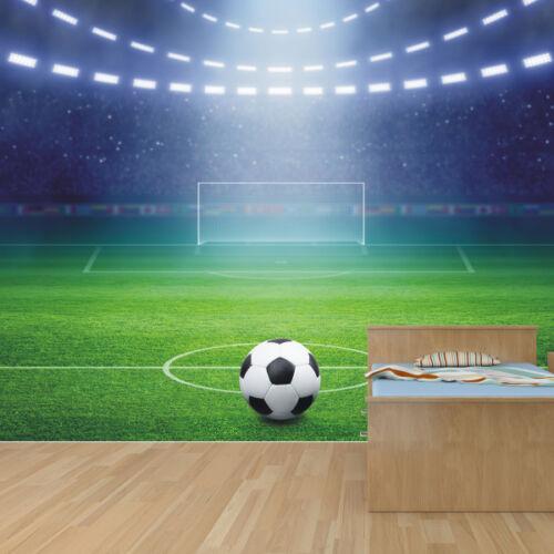 Football stadium boys bedroom wallpaper mural design wm414