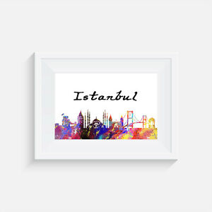 print poster picture quote wall art Istanbul Turkey home decor gift