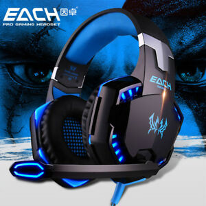 Cuffie-Gaming-Led-per-PS4-PC-XBOX-ONE-Microfono-Volume-Splitter-Audio-EACH-G2000