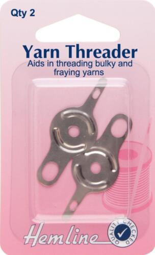 Hemline Two Yarn Needle Threaders Crafts Haberdashery Sewing Tools Equipment