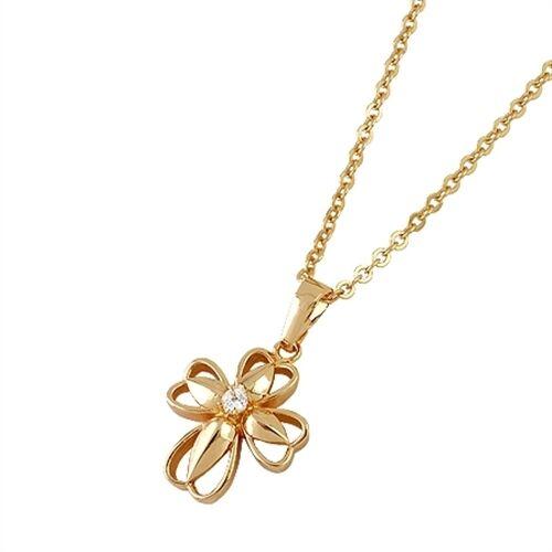 18K Rose Gold Filled CZ Heart Pendant P-113