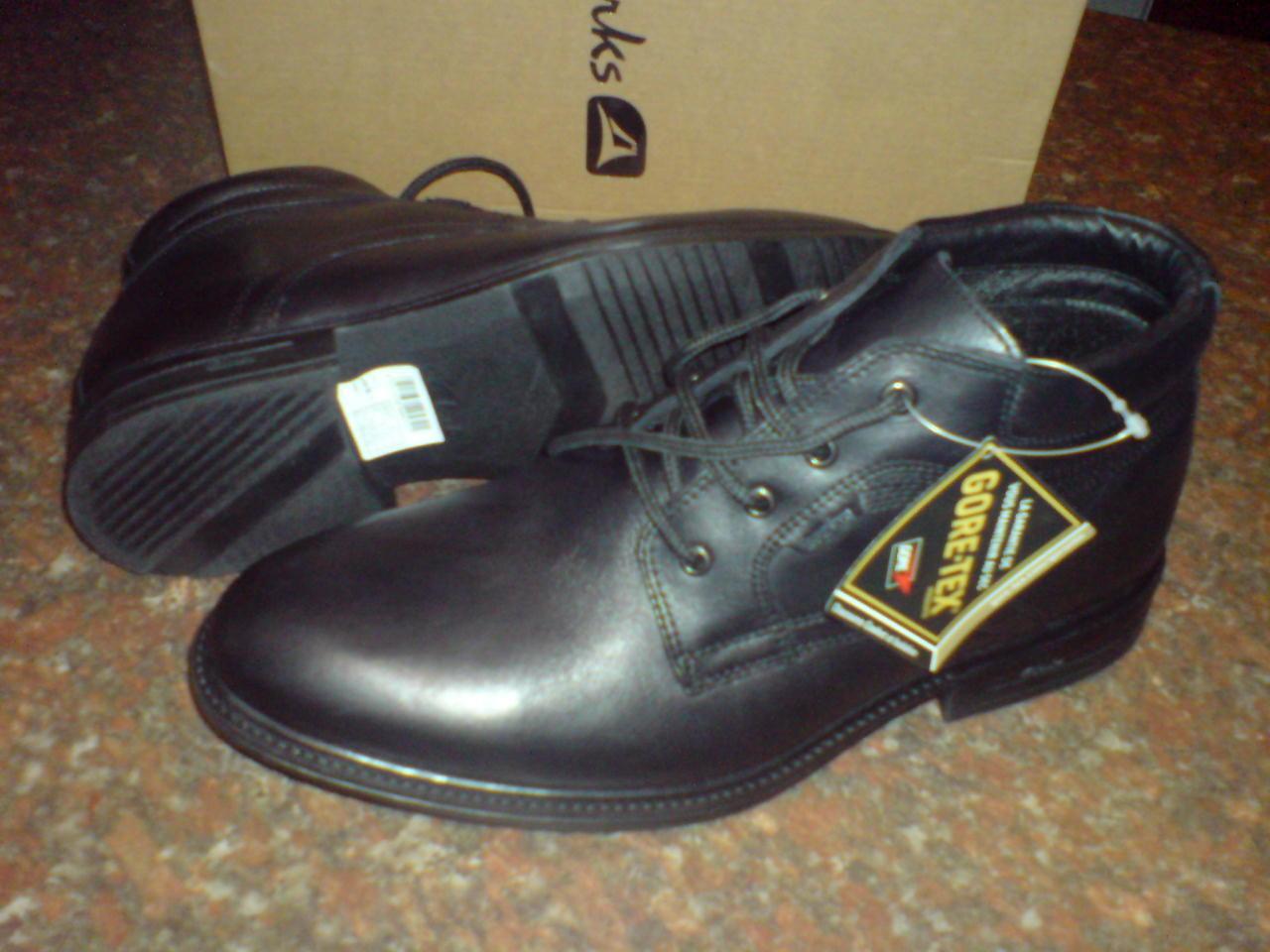 CLARKS NUEVOS Hombre otoño Botas RESISTENTE GTX Cálido lining&sock Botas otoño Cuero Negro a72bf8
