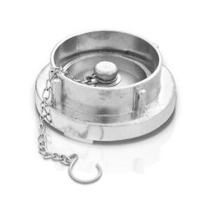 STORZ A Blindkupplung 4 Zoll mit Kette Aluminium Schlauchkupplung Storzkupplung