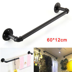 Black Vintage Industrial Retro Style Rustic Iron Pipe