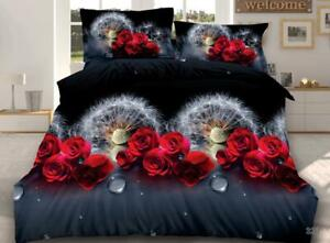 3D-Effect-Duvet-Quilt-Cover-Bed-Sets-with-Pillow-Cases-Free-Fitted-Sheet-NO-320