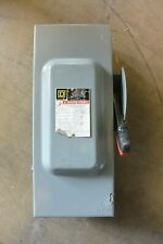 H323n Square D 100 Amp 240 Volt Fusible Indoor Disconnect Switch Used