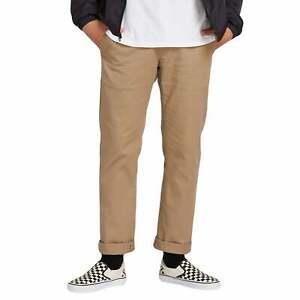 Detalles de Pantalones Volcom condenadamente Moderno Elástico para Hombre Chino Caqui Todas Las Tallas ver título original