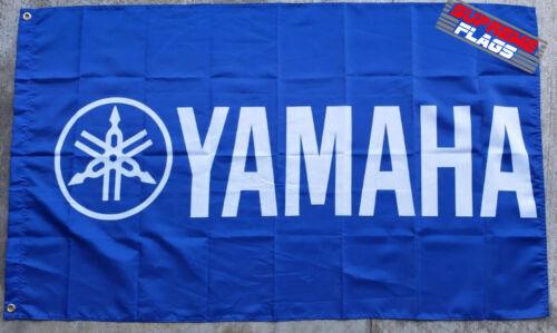 Yamaha Flag Banner 3x5 ft Japanese Motorcycle Manufacturer Blue