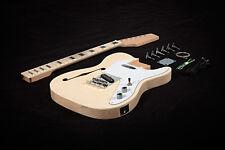 DIY Semi-Hollow Body Electric Guitar Kit - Bolt-On - Mahogany - egk007.1