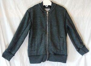 Boys-Next-Dark-Grey-Stripe-Zipper-Fronted-Tracksuit-Bomber-Jacket-Age-3-Years
