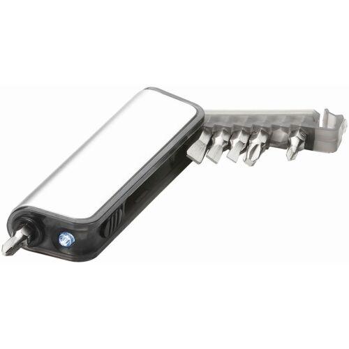 Mini Set di Attrezzi 7 Funzioni con Torcia Reno Tascabile Luce LED Cacciaviti