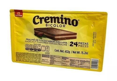 ChocolateCREMINO bicolor 72 pcs hazelnut cocoa traditional mexican 3X