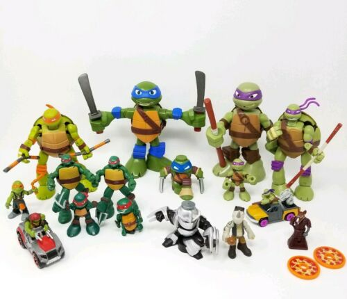 Lot de 16 Teenage Mutant Ninja Turtles Teenage Mutant Ninja Turtles action figures certains avec sons